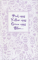 Foil Lettering on Tulip & Egg Background (1 card/1 envelope)  Easter Card