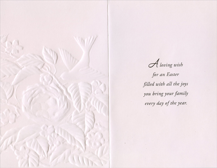 Easter Eggs in Bird Nest: Mom (1 card/1 envelope) Easter Card - FRONT: An Easter Wish For a Mom Who's So Loved  INSIDE: A loving wish for an Easter filled with all the joys you bring your family every day of the year.