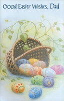 Tipped Basket and Eggs: Dad (1 card/1 envelope) - Easter Card