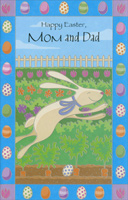Easter Bunny in Flower Garden: Mom & Dad (1 card/1 envelope)  Easter Card