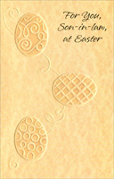 3 Embossed Eggs: Son-in-Law (1 card/1 envelope)  Easter Card