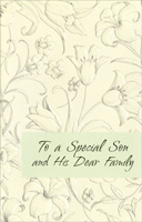 Embossed Lilies & Tulipes: Son & Family (1 card/1 envelope)  Easter Card