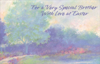 Pastel Watercolor Trees: Brother (1 card/1 envelope) - Easter Card