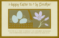 Gold Foil Basket and Border: Brother (1 card/1 envelope)  Easter Card