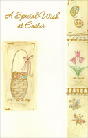 Easter Basket, Eggs, Tulips, and Butterflies (1 card/1 envelope)  Easter Card