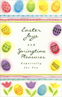 Die Cut Fold Pastel Eggs (1 card/1 envelope) - Easter Card