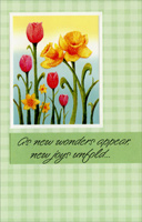 Glitter Lilies and Tulips: New Wonders (1 card/1 envelope)  Easter Card