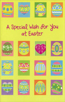 Decorated Eggs Panels with Die Cut Window (1 card/1 envelope)  Easter Card