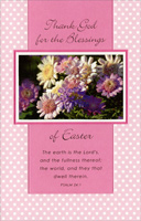 Glitter Daisies on Polka Dots: Thank God (1 card/1 envelope) - Easter Card