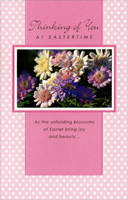 Glitter Daisies on Polka Dots: Thinking of You (1 card/1 envelope) - Easter Card
