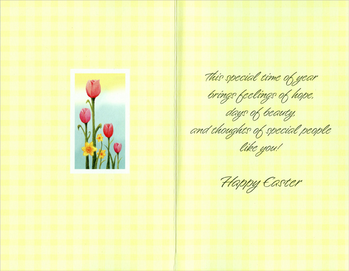 Glitter Lilies and Tulips: Someone Special (1 card/1 envelope) Easter Card - FRONT: For Someone Special at Eastertime  INSIDE: This special time of year brings feelings of hope, days of beauty, and thoughts of special people like you! Happy Easter