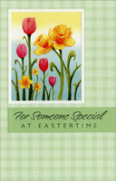 Glitter Lilies and Tulips: Someone Special (1 card/1 envelope) - Easter Card