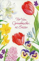 Embossed Flowers: Grandmother (1 card/1 envelope) - Easter Card