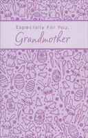 Purple Foil Tulips, Bunnies, and Eggs: Grandmother (1 card/1 envelope) - Easter Card