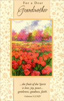 Watercolor Field of Tulips: Grandmother (1 card/1 envelope)  Easter Card