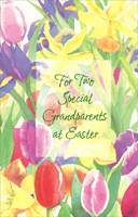 Watercolor Tulips & Lilies: Grandparents (1 card/1 envelope) - Easter Card