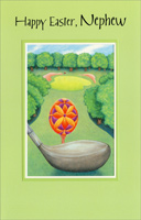 Golf Club and Easter Egg: Nephew (1 card/1 envelope)  Easter Card