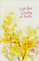Yellow and Pink Watercolor Flowers: Darling (1 card/1 envelope) - Easter Card