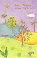 Trees on Rolling Hills: Godfather (1 card/1 envelope)  Easter Card