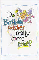 Birthday Wishes (1 card/1 envelope) Freedom Greetings Funny Birthday Card