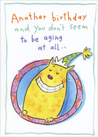 Don't Seem To Be Aging (1 card/1 envelope) Freedom Greetings Funny Birthday Card