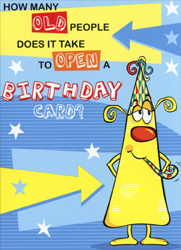 How Many Old People Freedom Greetings Funny Birthday Card By