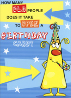 How Many Old People (1 card/1 envelope) Freedom Greetings Funny Birthday Card