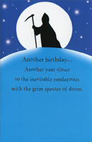 Grim Specter (1 card/1 envelope) Freedom Greetings Funny Birthday Card