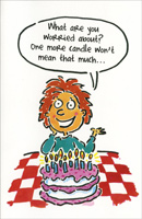 One More Candle (1 card/1 envelope) Freedom Greetings Funny Birthday Card