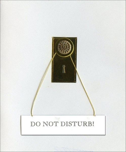 Do Not Disturb (1 card/1 envelope) Anniversary Card - FRONT: Do Not Disturb!  INSIDE: Here's to us!