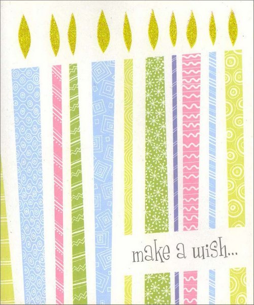 Make a Wish (1 card/1 envelope) Birthday Card - FRONT: make a wish�  INSIDE: �hope it comes true! Happy Birthday