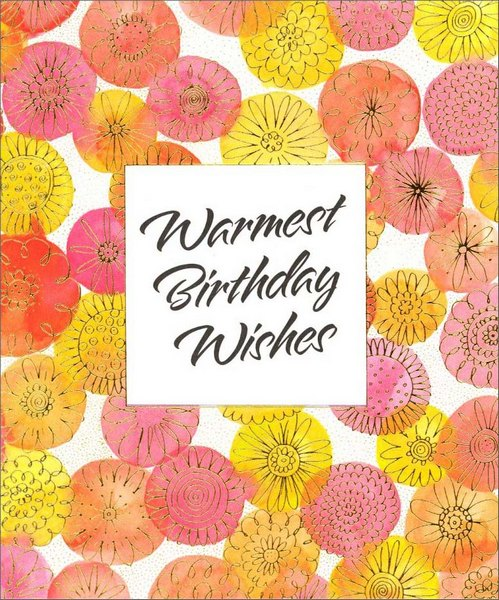 Warmest Wishes (1 card/1 envelope) Birthday Card - FRONT: Warmest Birthday Wishes  INSIDE: May your birthday be warm and breezy, nice and easy - special just for you! Happy Birthday