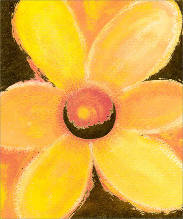 Orange, Red & Gold Flower (1 card/1 envelope) - Birthday Card  INSIDE: May the years ahead be special and happy ones And may your hopes and dreams all come true. Happy Birthday