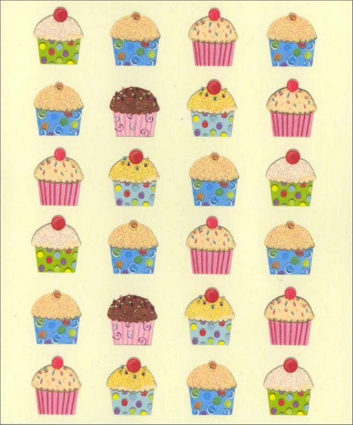 Cupcakes (1 card/1 envelope) Birthday Card  INSIDE: Wishing you a super sweet birthday!