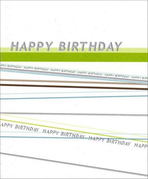 Happy Birthday (1 card/1 envelope) Birthday Card - FRONT: Happy Birthday  INSIDE: To You!