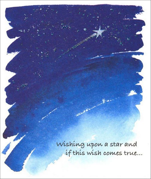 Shooting Star (1 card/1 envelope) Birthday Card - FRONT: Wishing upon a star and if this wish comes true�  INSIDE: �your birthday this year is going to be perfect for you! Happy Birthday