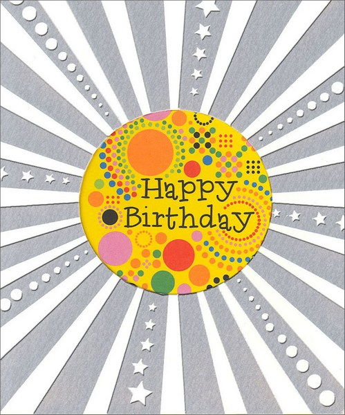 Psychadelic Birthday (1 card/1 envelope) - Birthday Card  INSIDE: Happy Birthday