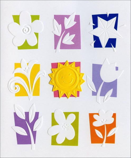 Sun & Flower Panels (1 card/1 envelope) Friendship Card  INSIDE: May all the joys you've brought to others, be yours. May all the times you've taken to care, touch your heart back� with smiles, and laughter and love.