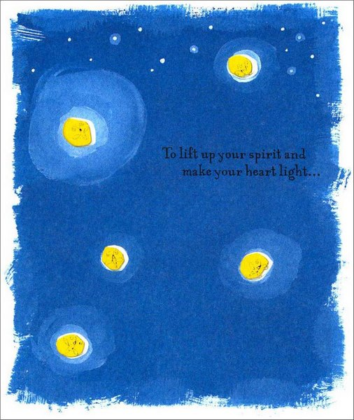Fireflies (1 card/1 envelope) - Get Well Card - FRONT: To lift up your spirit and make your heart light�  INSIDE: �until that happy day when you're feeling all right! Hope It's Soon!