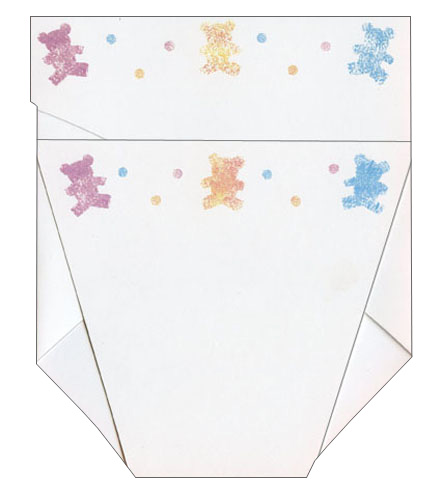 Trifold Diaper (1 card/1 envelope) New Baby Card  INSIDE: Congratulations on your new little bundle of joy!
