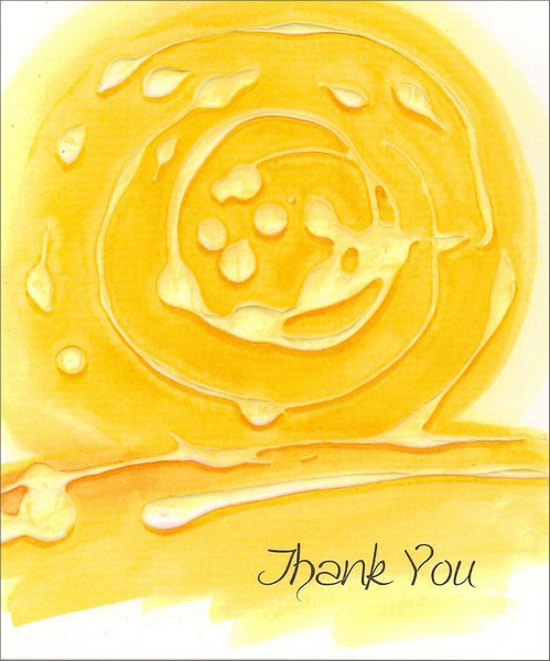 Comforting Swirls (1 card/1 envelope) Thank You Card - FRONT: Thank You  INSIDE: Some things are always warming us, comforting us and revitalizing us� like thoughts of a friend's kindness.