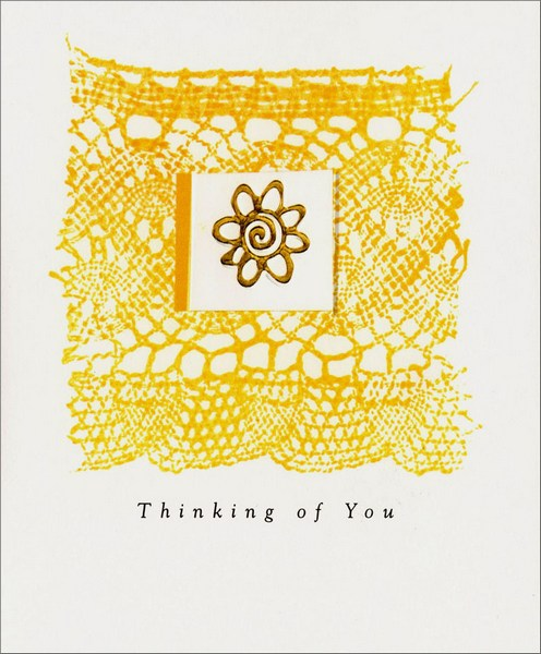 Earthtones (1 card/1 envelope) Thinking of You Card - FRONT: Thinking of You  INSIDE: The way sunlight reminds you of a new day, or a flower blooming reminds you life is beautiful� I remember these things when thinking of you.