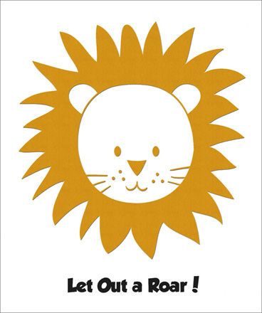 Lion Foil Birthday (1 card/1 envelope) - Birthday Card - FRONT: Let Out a Roar!  INSIDE: Today is Your Birthday!