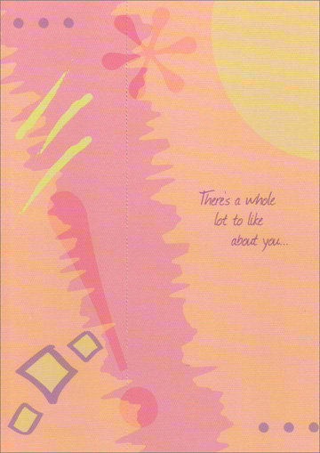 Exclamation Bookmark (1 card/1 envelope) Freedom Greetings Birthday Card - FRONT: There's a whole lot to like about you�  INSIDE: That's why there's a whole lot to celebrate on your birthday! Happy Birthday!