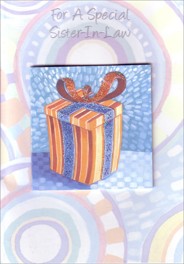 Present with Mini Card (1 card/1 envelope) Freedom Greetings Sister-in-Law Birthday Card - FRONT: For A Special Sister-In-Law  Just couldn't let you birthday go by�  INSIDE: �without letting you know how much it means to have a sister-in-law like you. Happy Birthday
