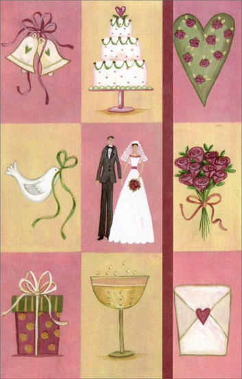 Symbols of Wedding (1 card/1 envelope) Freedom Greetings Our Anniversary Card  INSIDE: When we were wed, I was given a treasure to cherish every day my whole life through� Darling, I got you! With Love on Our Wedding Anniversary and Always