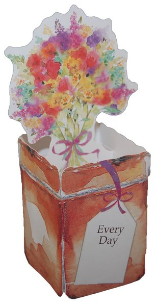 Pop up Thinking of You Flower Pot (1 card/1 envelope) - Thinking of You Card - FRONT: Every Day  INSIDE: Thinking of You�