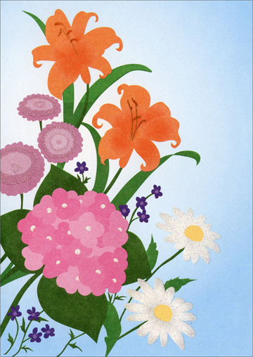 Assorted Wildflowers (1 card/1 envelope) Freedom Greetings Blank Card