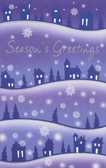 Hilltop Homes (1 card/1 envelope) Christmas Card - FRONT: Season's Greetings  INSIDE: Wishing you the very best for the season and the coming year.