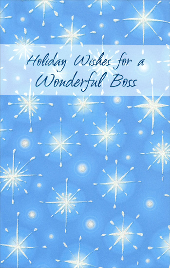 Twinkling stars boss christmas card by freedom greetings twinkling stars boss christmas card m4hsunfo